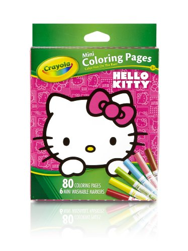 Hello Kitty Coloring Pages With Crayons : Crayola hello kitty mini coloring pages fitness tracker