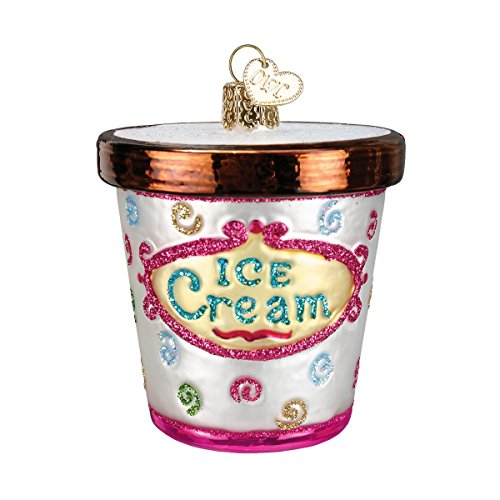 Old World Christmas Ornaments: Ice Cream Carton Glass Blown Ornaments for Christmas Tree