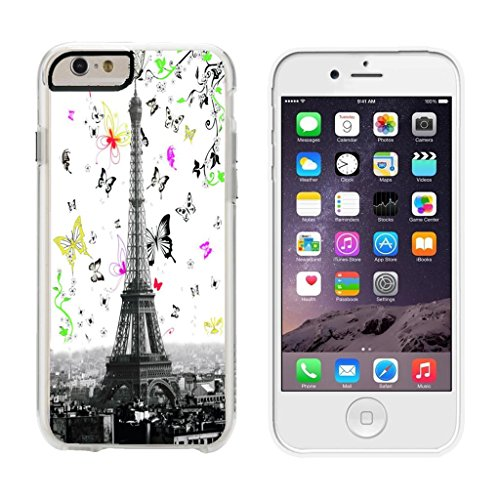 (Eiffel Tower Butterfly Swoop - iPhone 6 Plus Clear Cover Case)