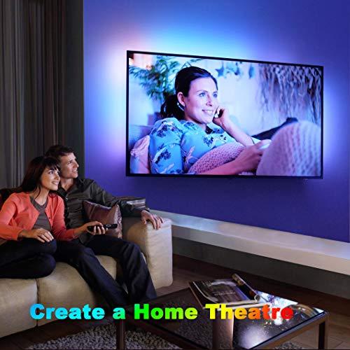 Tiras LED, Tiras de Luces LED Sylvwin RGB de 5m con Control Remoto,Tiras de Luz LED con 16 Cambios de Color y 4 Modos para el Hogar, Dormitorio, TV, Decoración de Gabinetes, Fiesta, 12V