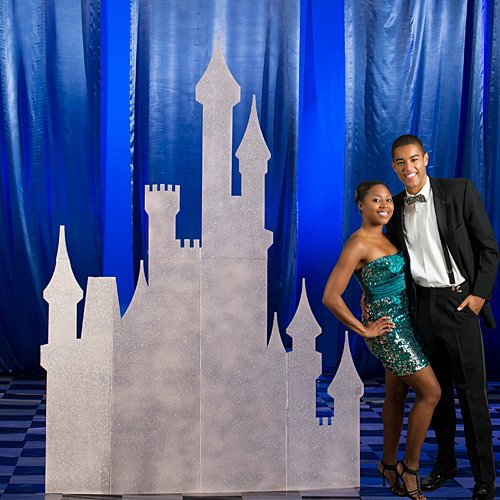 Daring to Dream Castle Standee Standup Photo Booth Prop Background Backdrop Party Decoration Decor Scene Setter Cardboard -