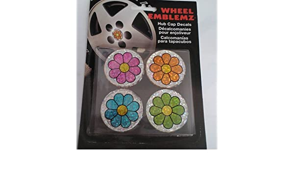 Amazon.com: Chroma Graphics,Inc. 9428 Whl Emblemz(Domed)Mlt-Flwr: Automotive