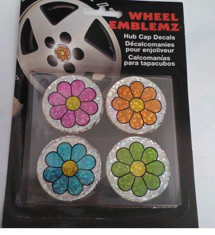Amazon.com: Chroma Graphics,Inc. 9428 Whl Emblemz(Domed)Mlt-Flwr: Automotive
