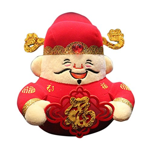 New Year Spring Festival God of Wealth Doll Mascot Wedding Party Home Decor Gift size 2018cm