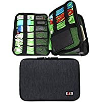 Cable organizer,BUBM Space Saving Double Layers Electronics Accessories Organizer Bag, Travel Gear Sleeve(Black)