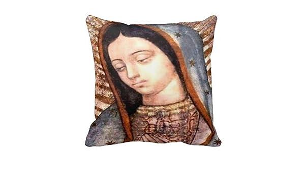 Amazon.com: Ustcyla Virgen De Guadalupe Cojin Almohada ...