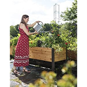Gardeners-Supply-2-Ft-x-8-Ft-Raised-Garden-Bed-Elevated-Cedar-Planter-Box-Standing-Garden-24-x-96
