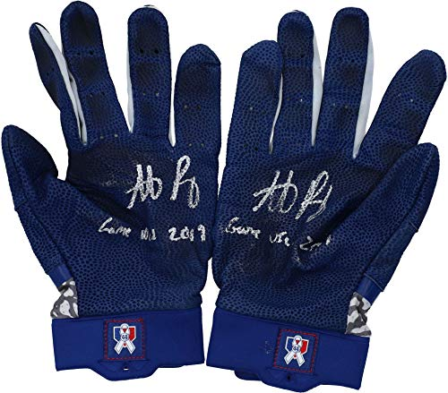 "Anthony Rizzo Chicago Cubs Autographed Game-Used Blue and White Nike Batting Gloves from the 2019 MLB Season with""Game Used"" Inscription - Fanatics Authentic Certified"