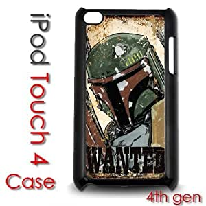 IPod Touch 4 4th gen Touch Plastic Case - Boba Fett Wanted Poster
