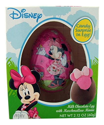 Disney Minnie Mouse Milk Chocolate Easter Egg with Marshmallow Minnie, 2.12 oz -