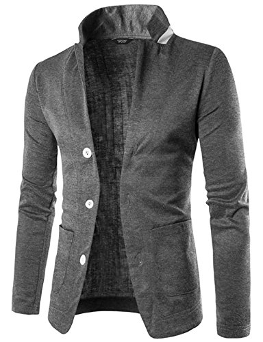 Coofandy Mens Casual Slim Fit Blazer 3 Button Suit Sport Coat Lightweight Jacket (Blazer Coat)