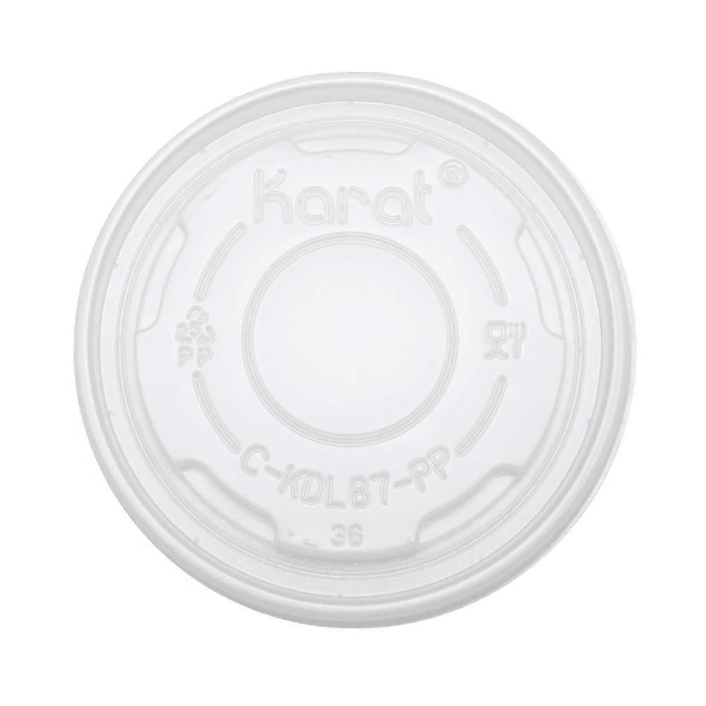 Karat C-KDL87-PP 5 oz PP Food Container Flat Lids (Case of 1000)