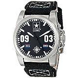 Wrist Armor Men's WA200 C1 Stainless Steel Analog Display Swiss Quartz Watch with Black Canvas Strap