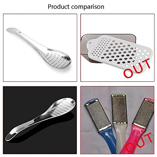 BEST Spoon Zester, 1Pc Silver Stainless Steel Lemon Zester Ginger Grater Garlic Grinding Tool Spoon
