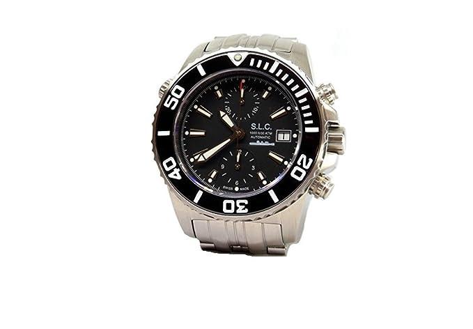 Reloj hombre automático acero militar Cronógrafo Sumergible nuevo caja garantía: Amazon.es: Relojes