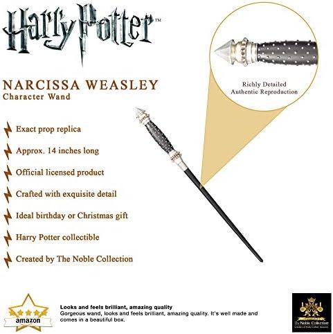 Varita de Personaje de Narcissa Malfoy. Colección Harry Potter Noble.