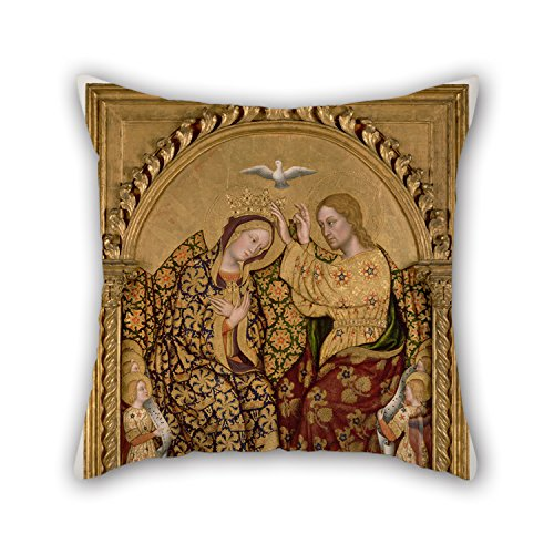 Coronation Cover (Loveloveu Oil Painting Gentile Da Fabriano (Italian - Coronation Of The Virgin Throw Pillow Covers 20 X 20 Inches / 50 By 50 Cm Best Choice For Dining Room,pub,home Theater,sofa,office,boys With Bo)