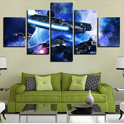 Fbhfbh Home Decor Canvas Painting 5 Pieces Hd Prints Wall Art Modular Movie Pictures for Living Room Framework Artwork Poster,4X6/8/10Inch,with -