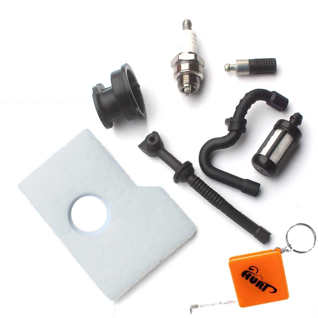 HURI Luftfilter f/ür Stihl 017 018 MS170 MS180 Motors/äge Kettens/äge mit Benzin /Öl Schlauch Filter Z/ündkerze Ansaugstutzen