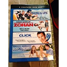 ADAM SANDLER 4 FEATURE DVD BOX SET. GROWN UPS/YOU DON'T MESS WITH THE ZOHAN/CLICK/JUST GO WITH IT.