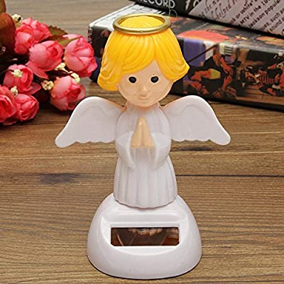 New Brand Name BangBang Solar Powered Bobble Head Moving Wings Dancing Angel: Toys & Games