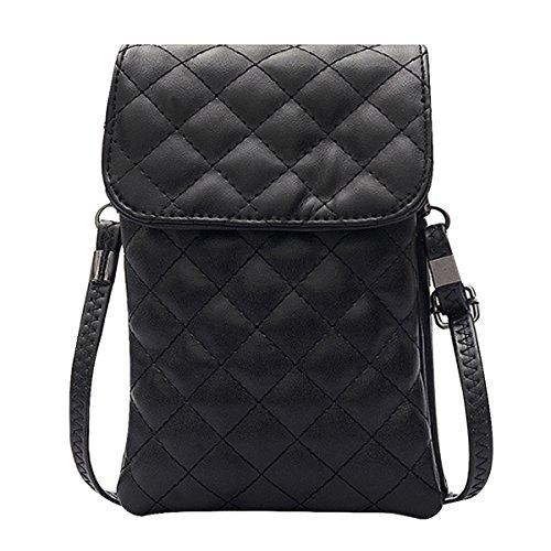 Cellphone Adjustable Leather Stylish Bag Crossbody Girl Strap Pu Pouch Women Black With Plaid Mini La Purse Haute 4x1IqPwT6