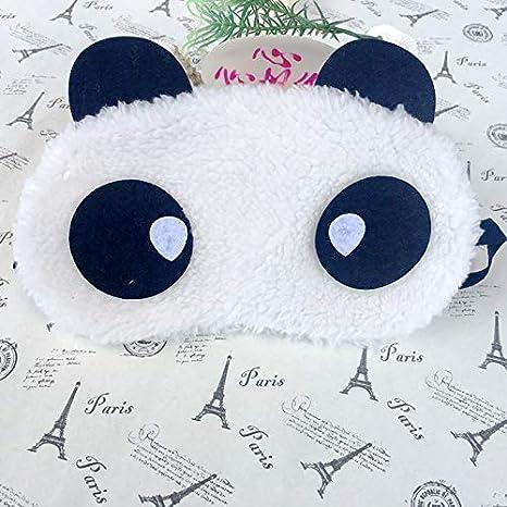 ZHONGYU Dessin anim/é Noir Blanc Panda Masque Cache-/œil N/°4 m/éditation Siestes Yoga Voyage Belle Nuit Sommeil Masque pour Les Yeux avec Sangle /élastique pour Coucher 18 * 9 cm Coton