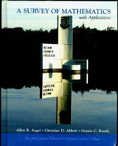 A Survey of Mathematics (Second custom edition for Ocean County College NJ 0536205272) pdf epub