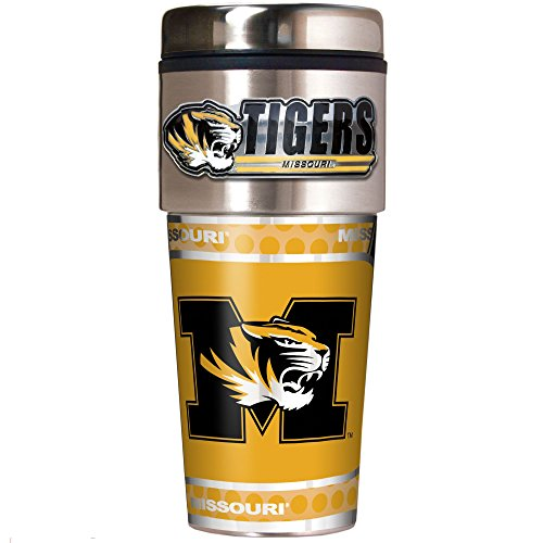 NCAA Missouri Tigers Metallic Travel Tumbler,  16-Ounce
