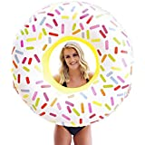 Giant Inflatable Sprinkle Donut Pool Floats for Adults and Kids - 42-inch - Extra Durable Pool Float