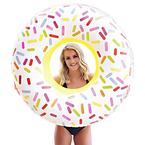 Giant Inflatable Sprinkle Donut Pool Floats for Adults