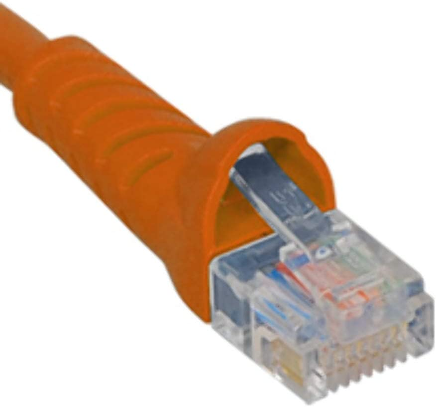 Orange 10 FT ICC CAT5e Molded Boot Patch Cord