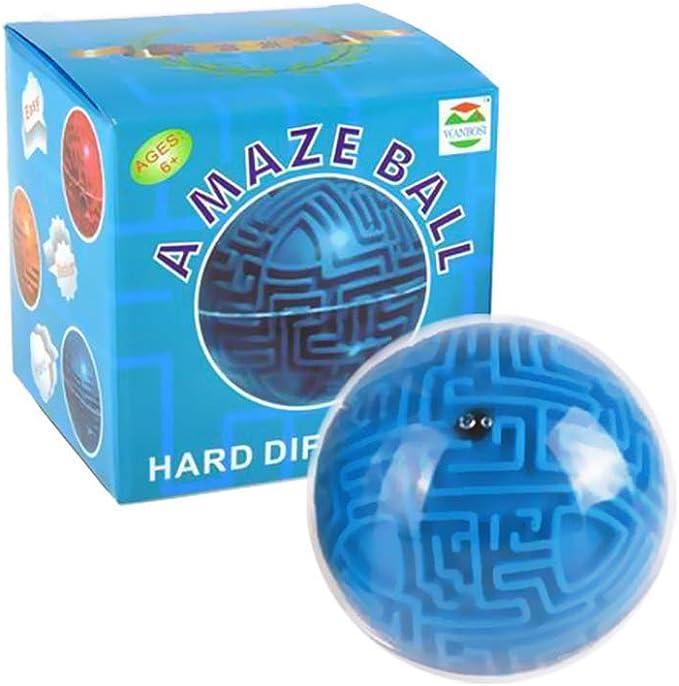 Ogquaton Mini Magia 3D Laberinto Puzzle Bola Juego de cubo Tierra Bola Volumen Laberinto Juguete: Amazon.es: Juguetes y juegos