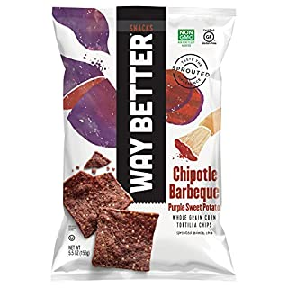 Way Better Snacks Chipotle Barbeque Purple Sweet Potato Tortilla Chips, 5.5 Ounce