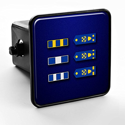 ExpressItBest Trailer Hitch Cover - US Coast Guard, Warrant Officer Rank Insignia