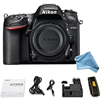 Nikon D7200 24.2 MP DX-format Digital SLR Body with Wi-Fi and NFC (Black) (Certified Refurbished)