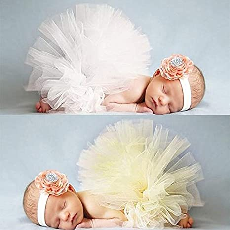CRAVOG Foto Fotografie Prop Baby Kostüm Mädchen Gelb TuTu Kleid ...
