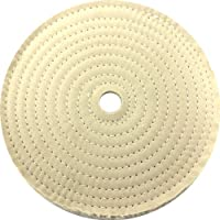 "JacksonLea 47402SP Sewn Conventional Buff, 30 Ply BR 60/60 Cotton Cloth, 8"" Diameter, 1"" Arbor Hole"