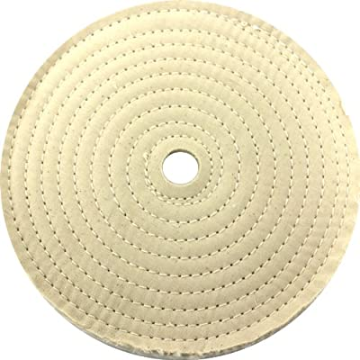 "JacksonLea 47401SP Sewn Conventional Buff, 30 Ply BR 60/60 Cotton Cloth, 6"" Diameter, 1"" Arbor Hole"