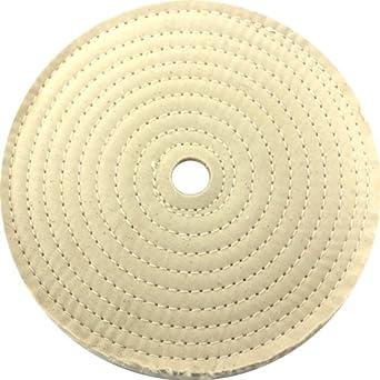 jacksonlea 47403sp cosido convencionales Buff, 30 capas BR 60/60 Paño de algodón, 10 cm de diámetro, 1