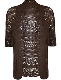 Plus Size Womens Crochet Knitted Shrug Cardigan Sweater Bolero Top