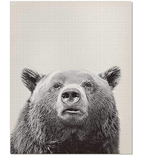 (Bear Poster, Bear Print, Animal Picture, Nursery Animal Print, Animal Poster, Bear Art Print, Bear Wall Art, Black and White, Bear Art, Bear Photography, Animal Print, Farm Animal Print, 8x10)