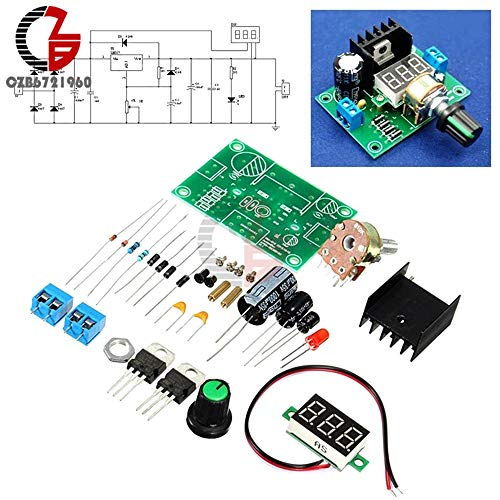 Power Inverter - LM317 Digital Display Adjustable Regulated Voltage Regulators Board Module Kits New (Simple Dc To Ac Converter Circuit Diagram)