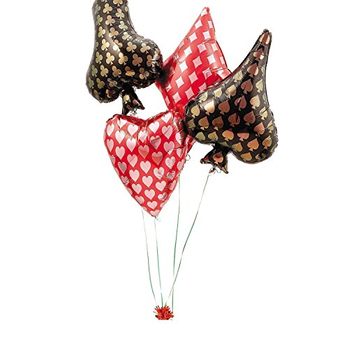 - Bargain World Card Suit Mylar Balloon Set (With Sticky Notes)