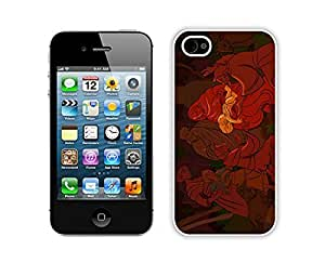 Popular Sell Design Iphone 4S Protective Skin Case Merry Christmas White iPhone 4 4S Case 43