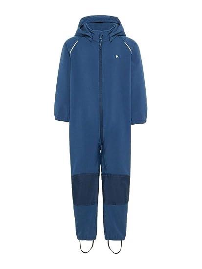 NAME IT Mini Jungen Softshell-Anzug, Regenanzug, Overall ALFA Magic in Dark Denim