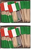 2 Boxes of Mini Italy Toothpick Flags%2C