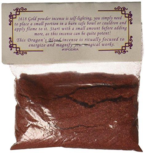 AzureGreen 1 X Dragons Blood Powder Incense 1618 Gold