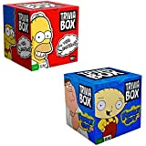 Simpsons and Family Guy Trivia Games - Trivia Box Bundle Set