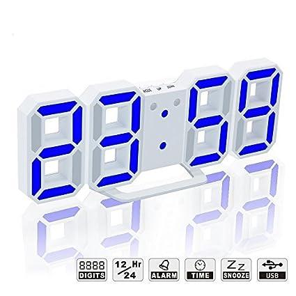YIKESHU 3D Despertador Digital, LED Despertador Electrónico ...